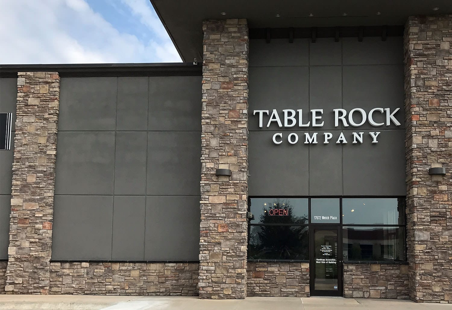 Table Rock Company Omaha Corporate and showroom