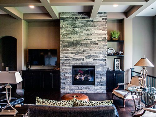 Natural Stone Fireplace Design Ideas in Omaha & Lincoln, Nebraska - Fireplace and Natural Stone Store in Omaha and Lincoln, Nebraska -Natural Stone Adds A Touch Of Modern Home Decor To Any Room