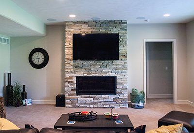 Custom Fireplace Makes Holiday Memories
