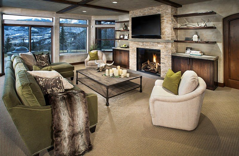 Winter Natural Stone Fireplace Trends | Table Rock Company