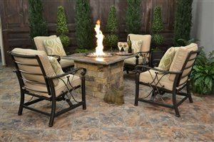 natural stone outdoor rooms