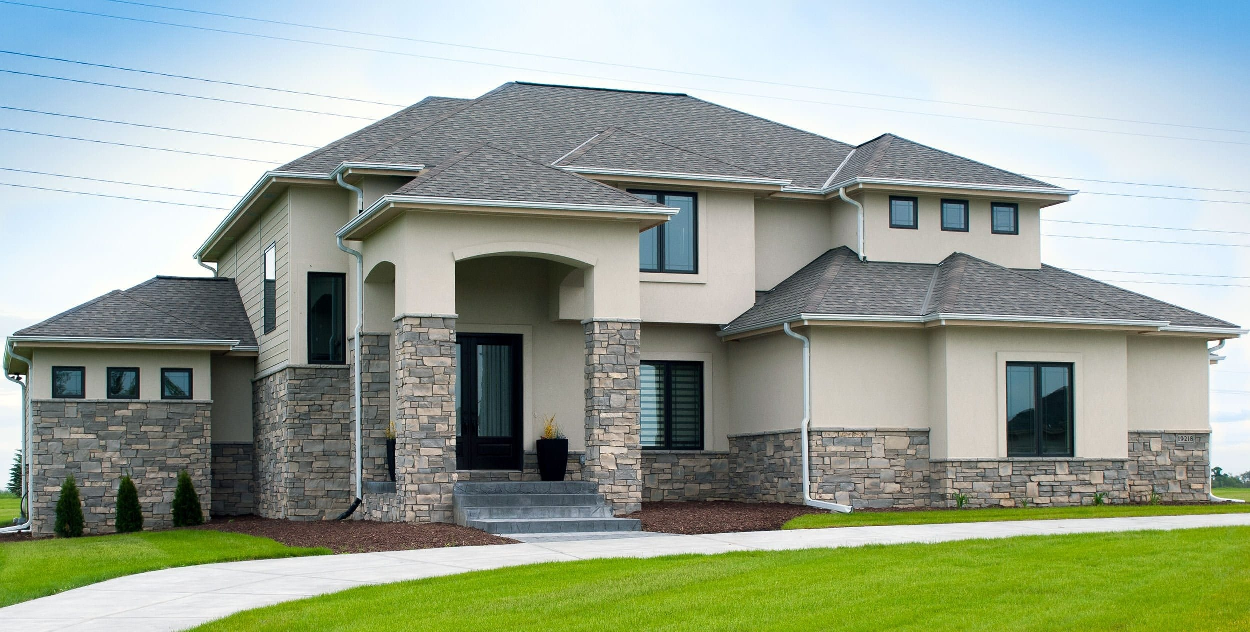 how to clean exterior stone house