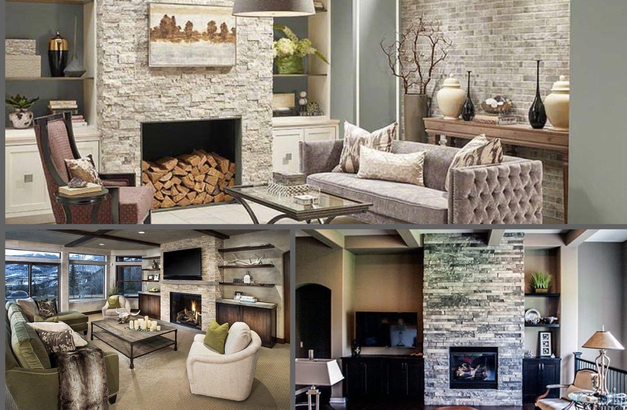 Natural Stone Fireplace Inspiration in Omaha & Lincoln, Nebraska